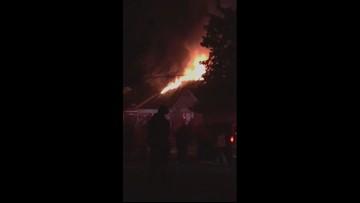 Prince George's County Fire Dept. battling blaze in Bowie
