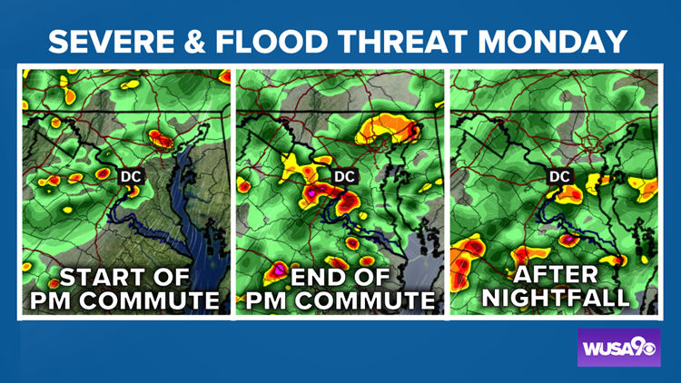 TIMELINE: Storms Monday could bring damaging winds, flash flooding