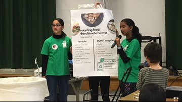 Three 7th graders started a project to recycle food waste from Montgomery County schools. Now, they could win a national award