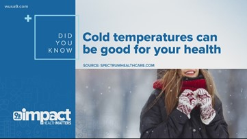 Cold temperatures can be good for your health