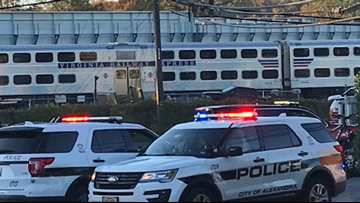 VRE train crashes into construction vehicle in Alexandria