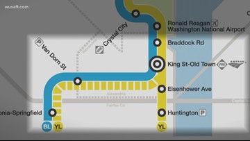 Metro's temporary closure of Yellow & Blue lines impact Alexandria businesses