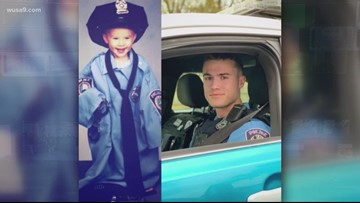 #FeelingCuteChallenge | A Virginia officer then and now