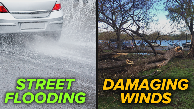 Treacherous Thursday Commute: Street flooding and wind damage possible