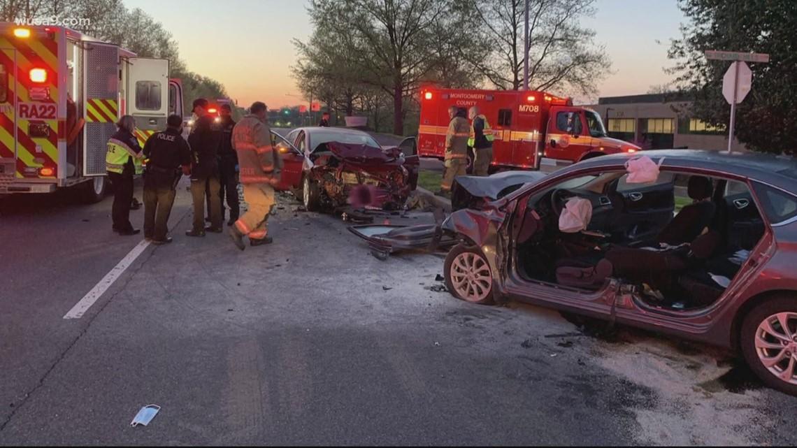 Man dead after head-on crash in Gaithersburg