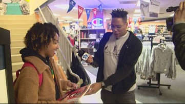 Get Up Give Back surprises Howard University students by handing out $1K in cash