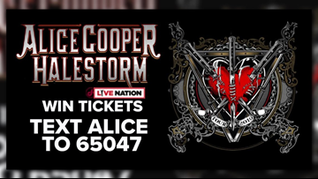 Win tickets to see Alice Cooper at Jiffy Lube Live