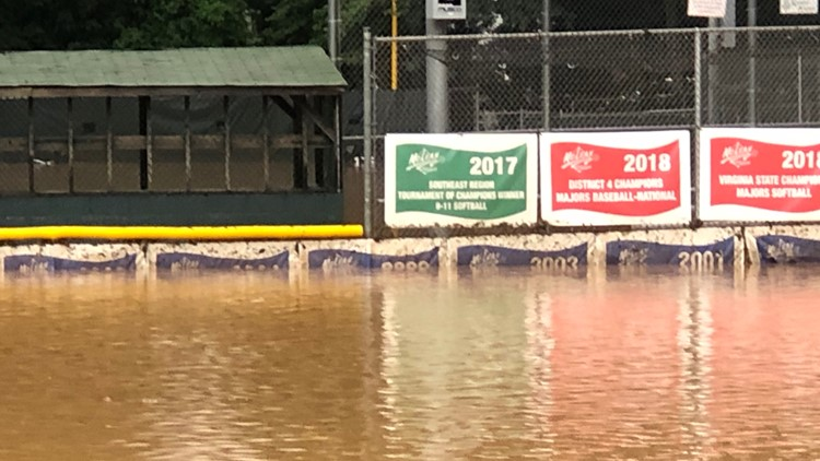 McLean Little League flooded