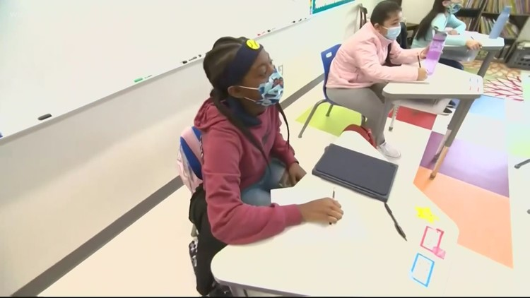 First day back in classrooms for Maryland students in nearly a year
