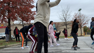 Members of DC fitness community host free workout class aimed at turning Popeyes tragedy into source of positive change