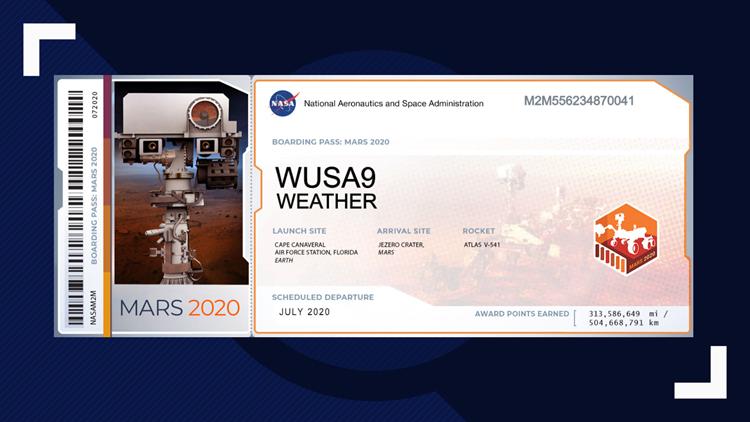 Mars 2020 Boarding Pass