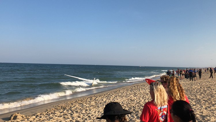 CRAZY VIDEO: Plane crashes into water in Ocean City, Md., pilot wasn't injured