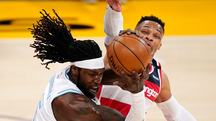 Wizards win 5th straight, hold off Lakers 127-124 in OT