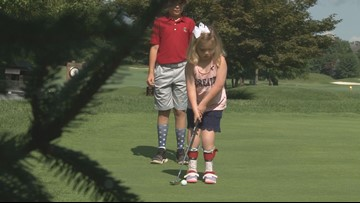 Her parents were told she might not be able to walk. Now she's golfing... and dancing