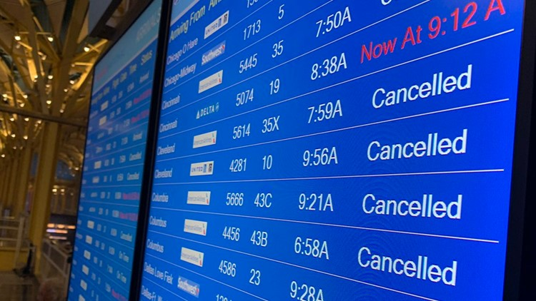 Some flights canceled due to winter weather in DC