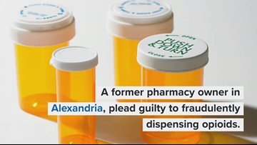 Former pharmacy owner in Alexandria pleads guilty to illegally dispensing opioids