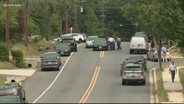 Police searching for dark colored sedan after shooting at funeral in Suitland, Md.