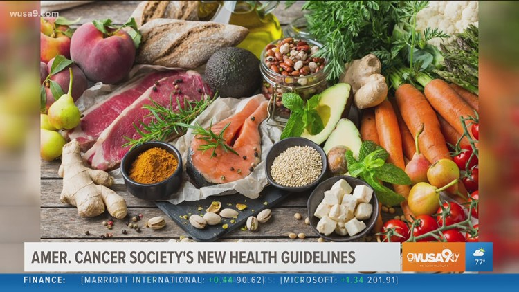The American Cancer Society updates their guidelines on best practices for diet and exercise