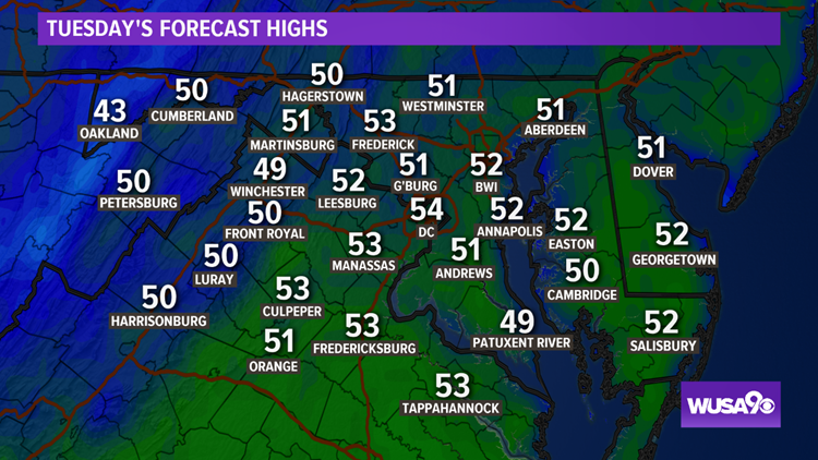 Washington Dc Weather On Wusa9 In Washington Dc