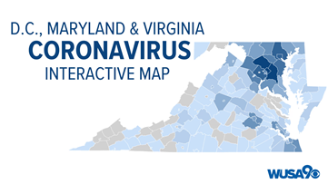 DMV Coronavirus Tracker: See where every reported COVID-19 case is in Maryland, DC, Virginia