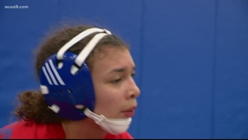 Why does the Virginia High School League not have a girls wrestling division?
