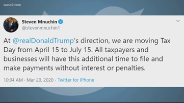 IRS changes tax deadline, releases employees from work after WUSA9 demands answers.