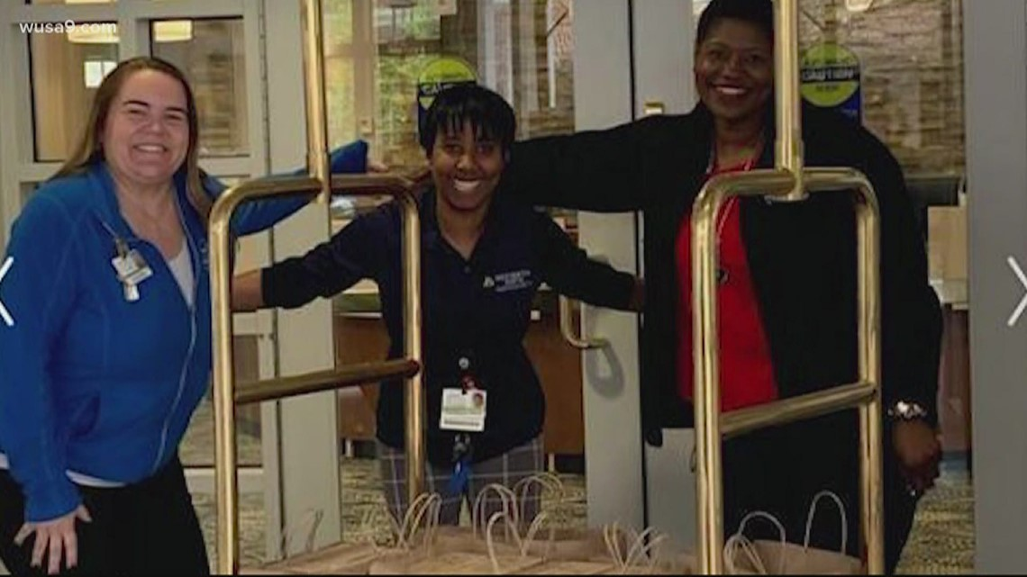Get Up Give Back: Group of women donate food to healthcare workers