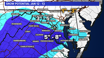 More than a foot of snow across parts of the region | wusa9 com