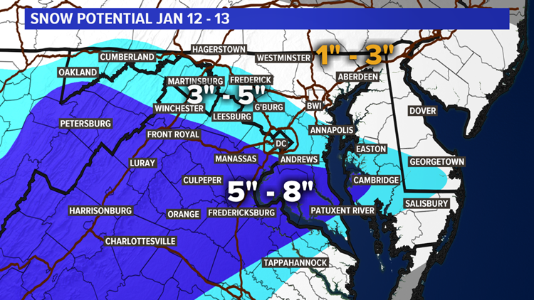 Fourth Call Snowfall Jan 12 - 13