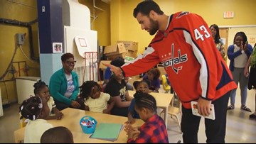 Capitals enforcer Tom Wilson is really a softy