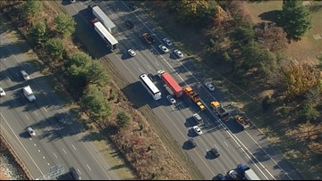 Body of woman hit by semi-truck found on shoulder of I-95 in Maryland