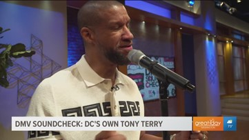 "DC's own Tony Terry performs his hit ""With You"" on Great Day Washington"