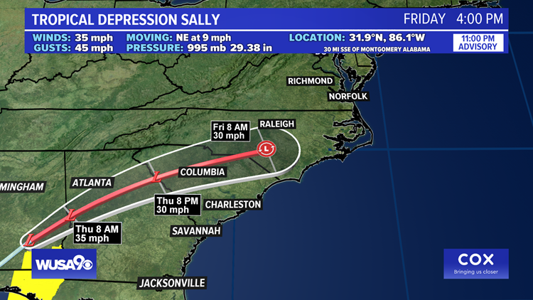 Hurricane Sally makes landfall as a Category 2   Here's how it will impact the DMV
