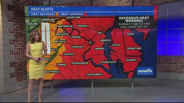Excessive Heat Watch is in effect for Sunday