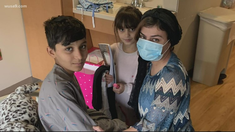 Afghan children reunited with family in DC after the tragic loss of their mother