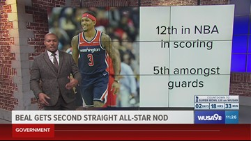 Beal selected for second straight All-Star Game