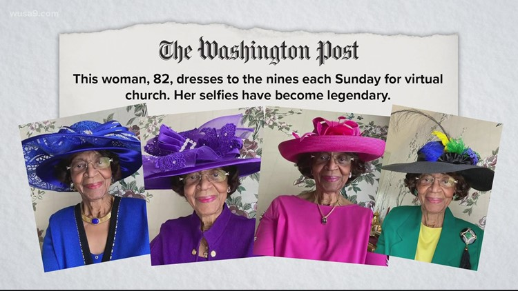 Zoom church isn't keeping this lady from dressing up   Get Uplifted