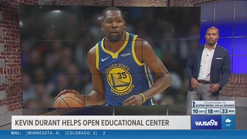 Kevin Durant helps celebrate opening of The Durant Center