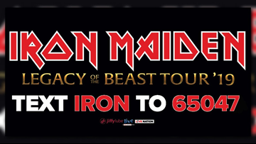 Win tickets to see Iron Maiden at Jiffy Lube Live