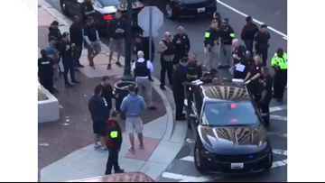 Witnesses describe massive police response in Silver Spring after officer shot