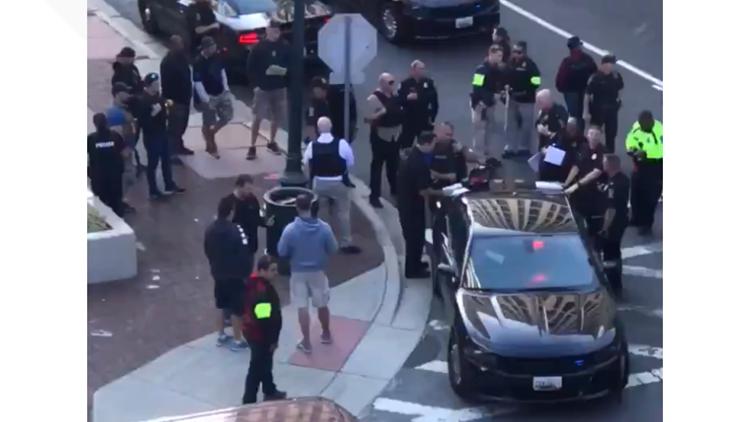 Witnesses describe massive police response in Silver Spring after officer shot