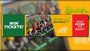 Win tickets to Busch Gardens Williamsburg