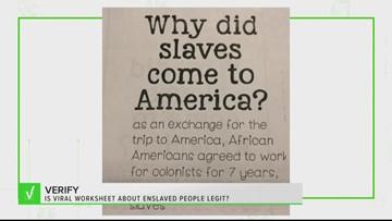 VERIFY: Is viral worksheet about enslaved people legit?