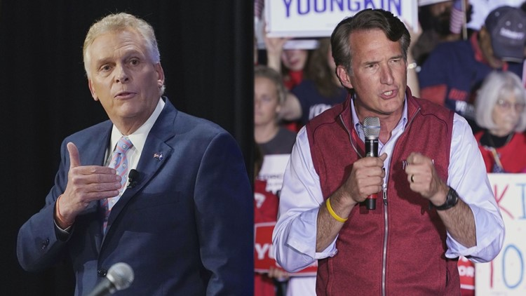 3rd poll shows McAuliffe & Youngkin tied in Virginia governor's race