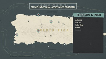 Puerto Rico FEMA map