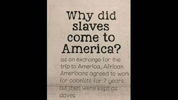 VERIFY: Worksheet on why enslaved people came to America given to students, but there's more to the story