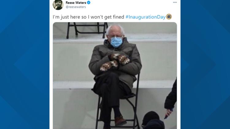 On Joe Biden's Inauguration Day, Bernie Sanders broke the internet