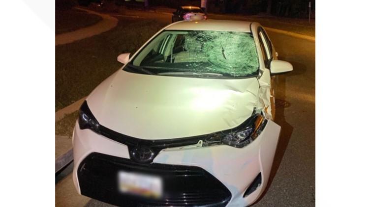 Sedan in Laurel hit and run