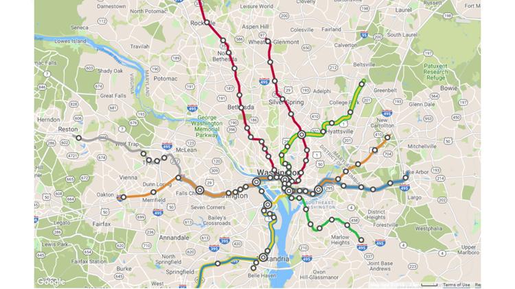 Metro Rail Map