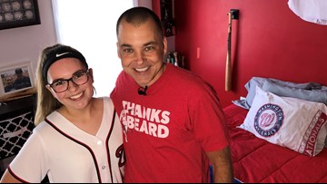 Meet the daddy-daughter duo who can't get enough of the Nats